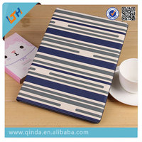 Hot 2015 Newest striated table cover Leather protect Case For Ipad Pro with shockproof and wallet stand function