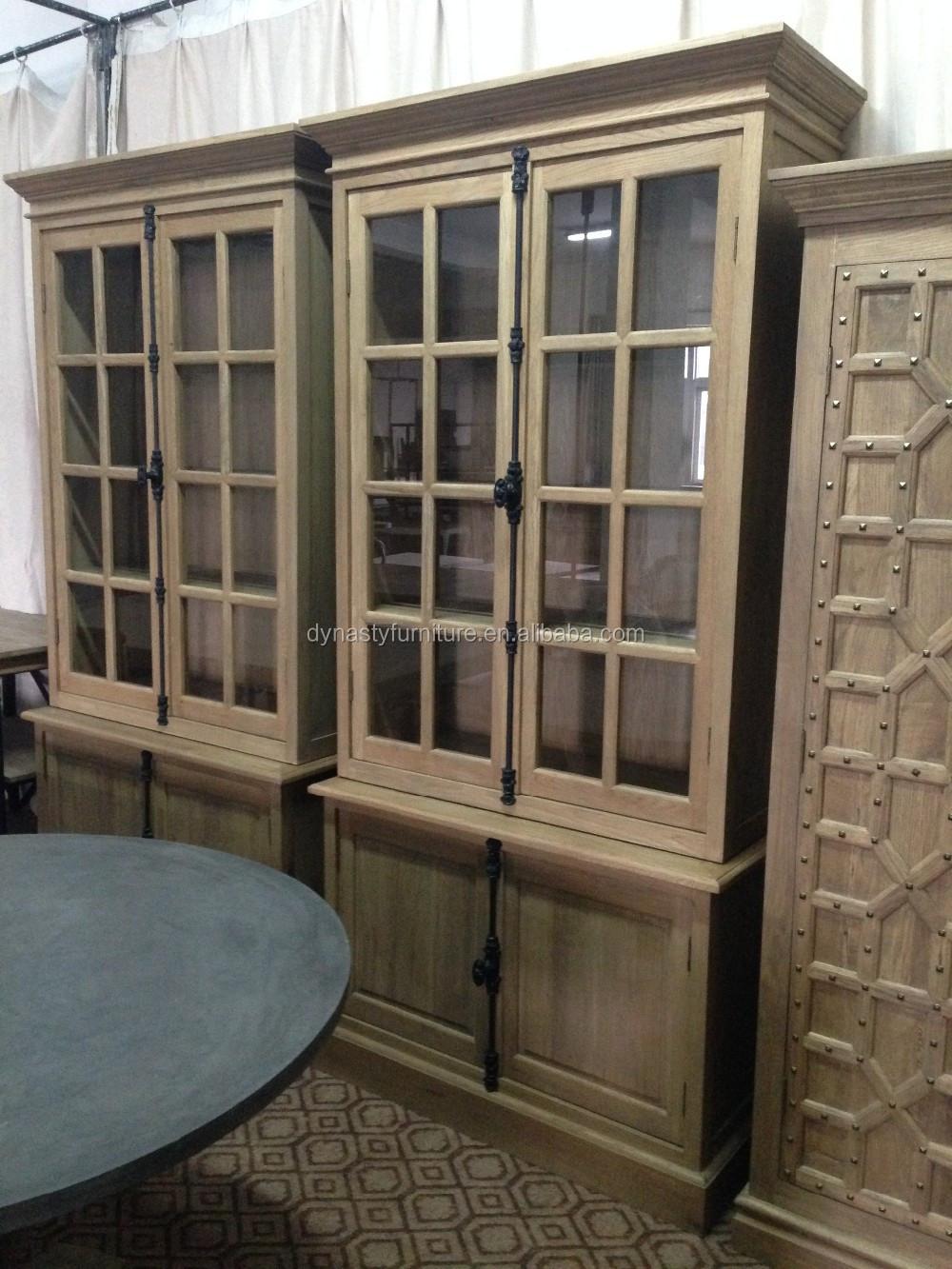 Vintaged rustieke meubels keuken meubelen teruggewonnen hout kast ...