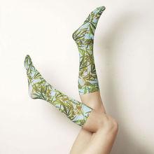fancy all over girl custom printed lady sock