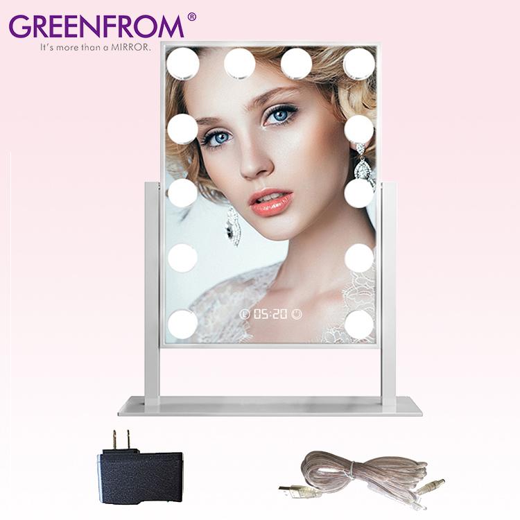 GMH2002 3 색 터치 스크린 살롱 할리우드 스타일 메이크업 거울 조명