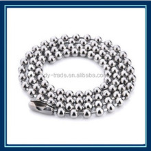 handmade handicrafts stainless steel ball chain necklaces