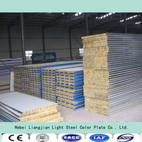 rock wool /glass wool sandwich panel prefabricated modular house