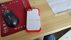 Wholesale plastic 3D heat transfer cell case with rubber margin