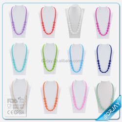 Silicone Teething Necklace baby Teething Necklace Wholesale silicone teething factory