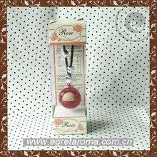 2014 Hot sale poppy hanging glass bottle car perfume brand