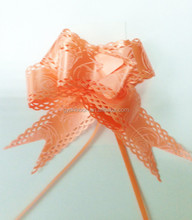 china wholesale butterfly pull bow in gift packing decorative, laser pp butterfly ribbon bow