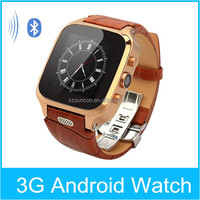 2015 Latest android smartwatch with camera MTK6572 android 4.4 1+8g gps watch phone 3g smart watch