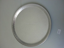 "16"" Round Embossed Aluminum Catering Tray"