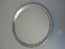 "16"" Round Embossed Aluminum Catering Tray"