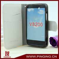 2014 new leather universal flip phone case for zte v8200
