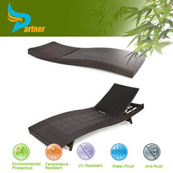 Reclining Folding Beach Lounger -- Leisure Sun Bed Single Cot Bed
