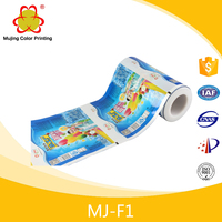 Colorful Popsicle Food Packaging Plastic Roll Film