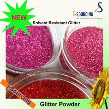 wholesale solvent resist glitter for nail arts, glitter powder
