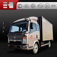 HOWO EGR Euro3 4x2 van truck/300hp/cargo truck