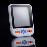 Portable electronic video magnifier reading aid