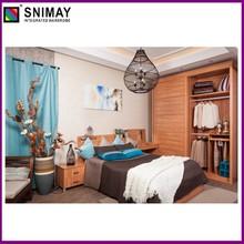 Vida superior série de móveis: roupeiro, cama, mesa de cabeceira, andar- no armário, estante de livros, tv stand