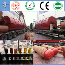 Continuous purify waste tyre oil refining equipment with New Partner agent