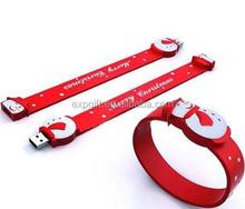 Christmas Bracelet USB Flash Drive / Christmas Wristband USB Flash Drive / Christmas Wrist Strap USB Flash Drive