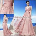 vestidos de Elie Saab para el vestido de la venta 2014 de la manga casquillo con el vestido de noche moldeado acanalado
