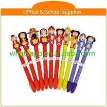 Hot sale new design cheap polymer clay ball pen cards brush pens