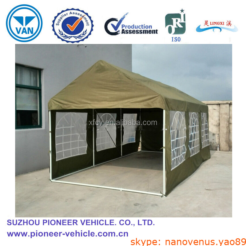 Canvas Car Shelters : Outdoor folding car tent instant canvas shelter iso