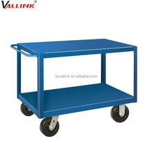 multi function two shelf steel mobile cart