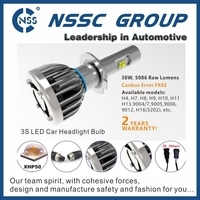 2015 New product! NSSC 38w super bright led headlight bulb h4 for motorcycles