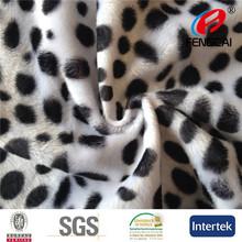 100 Polyester Animal Print Velboa Classic Car Fabric VB136