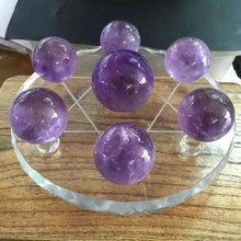 Seven color crystal amethyst ball for good luck seven color large decorative crystal ball