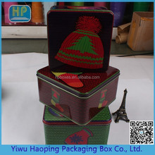 Xmas Gift Packing Famous Brand Tin Box