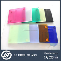 With CE/CCC/ISO9001 colorful laminated glass / Australia Standard Safety Laminated Glass