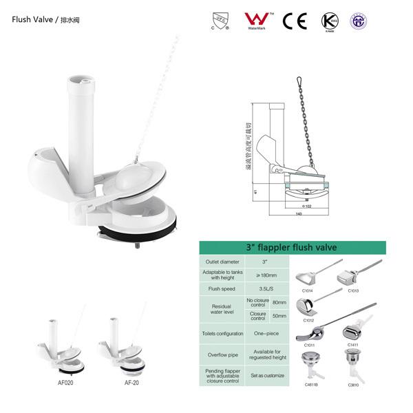 New Design Cistern Fitting Flapper Flush Valve Toilet Fill Valve Af 20 B3 28