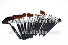 2012 best Professional factory direct high quality Beauty girls 24pcs Cosmetic Makeup Brush Set/pouch
