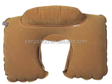 YS-T1005 Yongsun 100% Polyester custom travel pillow U-shape Adults Inflatable travel neck pillows for airplanes