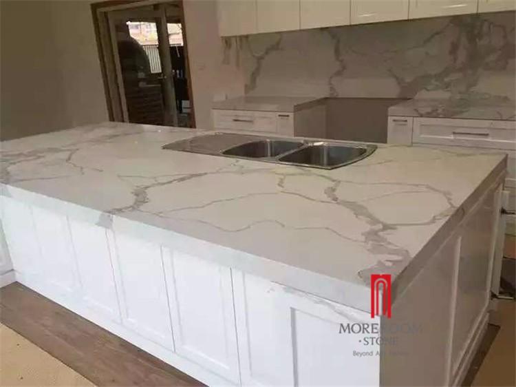 Regard de marbre calacatta blanc quartz dalle de pierre artificielle comptoir quartz id de - Marbre blanc calacatta ...
