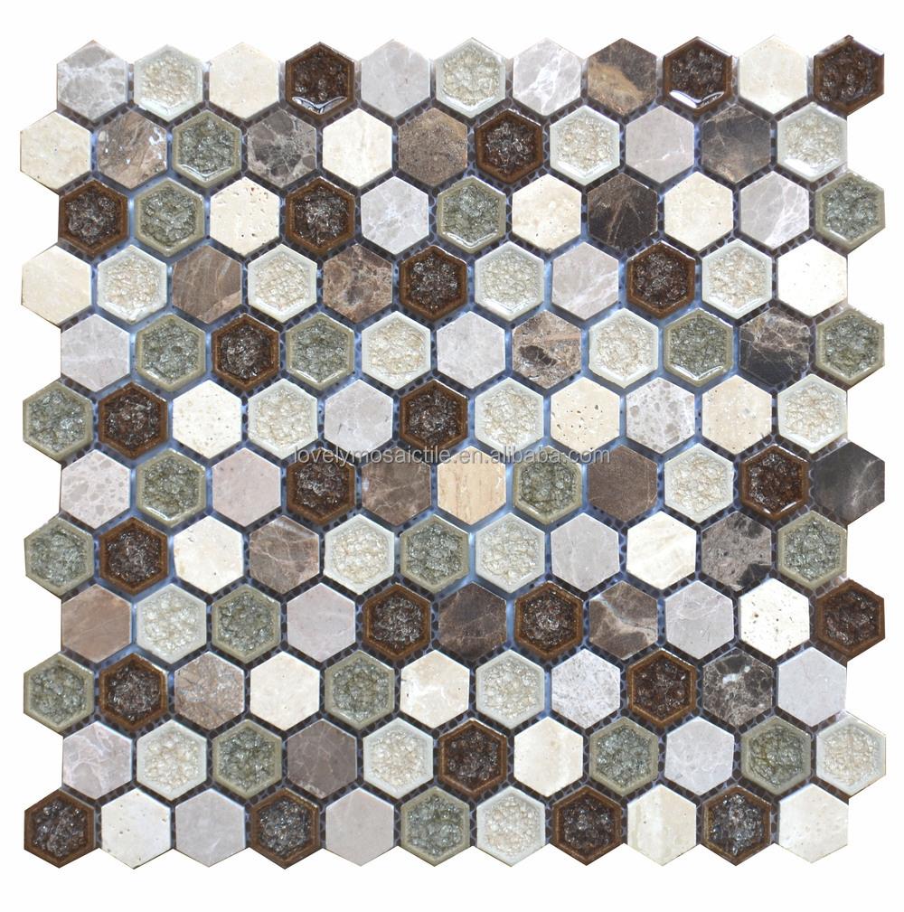 moda baldosas de mosaico de cermica de pared especial fichas hexagonales de hielo grieta helada superficie