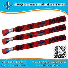 party items from china Eco friendly polyester material hand wristbands with ego design for wedding souvenir