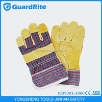 """GuardRite brand 10.5"""" buyer of yellow pig leather working gloves from china"""