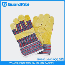 "GuardRite brand 10.5"" buyer of yellow pig leather working gloves from china"