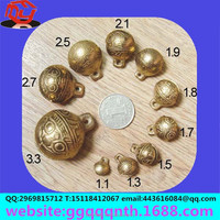 facrory direct sell 11mm one word shape tiger head metal brass Restoring ancient ways archaize color mini small bell Jingle Bell