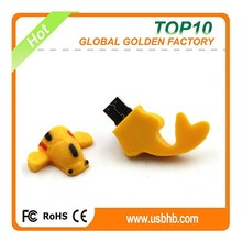 China wholesale bulk 2gb 4gb 8gb cute PVC glodfish usb flash drives