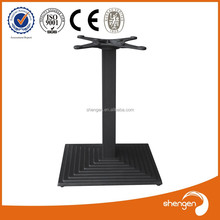 HD055B Rectangle cast iron table base black for wooden top