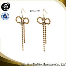 Latest Fashion Design Women Beautiful Bow Korea Style Earrings with earrings jewelry fashion and silpada jewelry catalog online