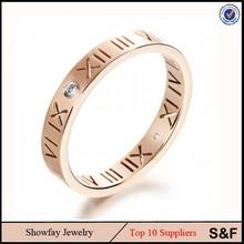Greece Steel Zircon Jewelry Alphabet Rings Gold Men Gay Ring