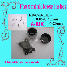 private label bulk tapered eyelash extension loose bag and case lashes 519
