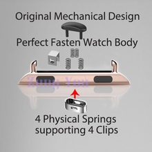 Perfect Fasten Clip for Apple Watch Band adapter 4 Springs + 4 Clips (42mm)