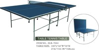 Double Folding Indoor Ping Pong Table with the wheels