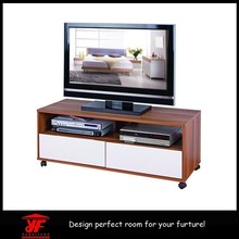Concise custom made wall led tv entertainment unit