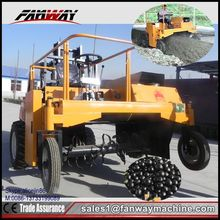 high efficient poultry manure turner machine