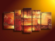 Artwork 5 pieces group handpainted oil painting